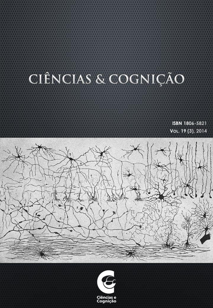 Ciências e Cognição, Volume 19, fasciculo 3, capa